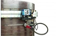 trator HK-100SE Auto Welding para o tanque de tubo horizontal curva ponto costura de solda